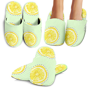 Slice Of Lemon Pattern Slippers