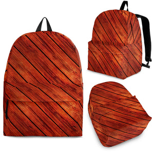 Wood Printed Pattern Print Design 03 Backpack