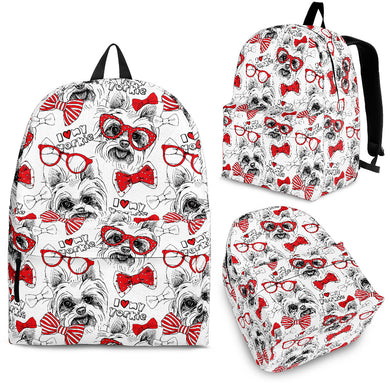 Yorkshire Terrier Pattern Print Design 04 Backpack