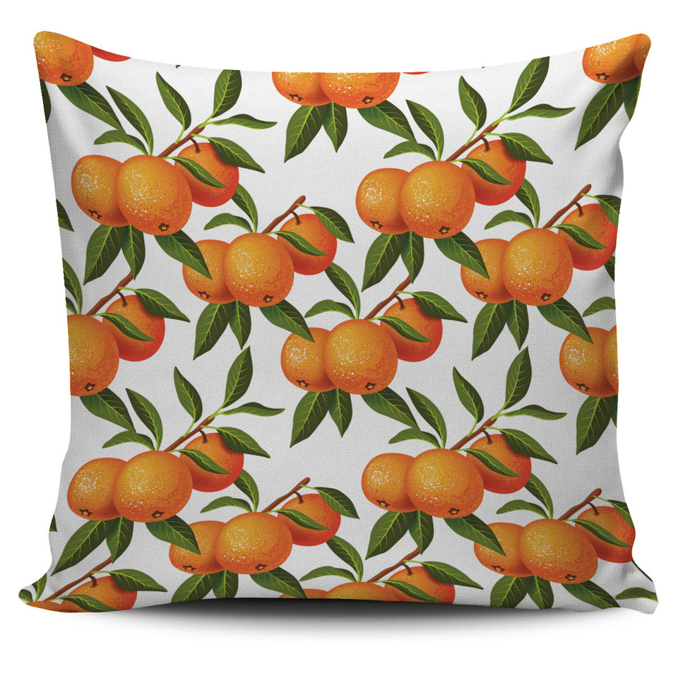 Oranges Pattern Background Pillow Cover