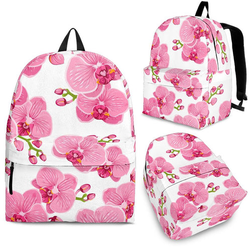 Pink Purple Orchid Pattern Background Backpack