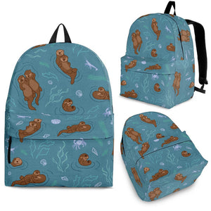 Sea otters pattern Backpack