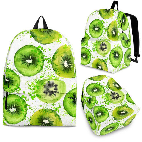 Watercolor kiwi pattern Backpack