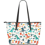 Cute Crocodile Pattern Large Leather Tote Bag