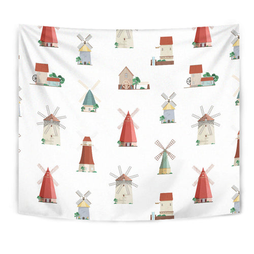 windmill design pattern Wall Tapestry