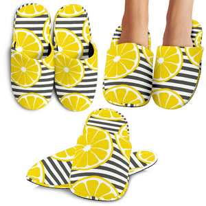 Slice Of Lemon Design Pattern Slippers