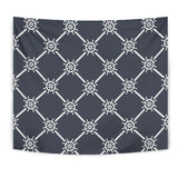 Nautical Steering Wheel Rope Pattern Wall Tapestry