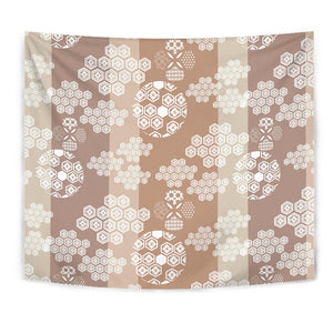 Beautiful Hexagon Japanese  Pattern Wall Tapestry