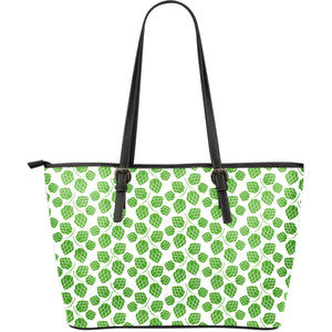 Hop Pattern Background Large Leather Tote Bag