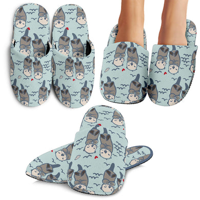 Lovely Sea Otter Pattern Slippers