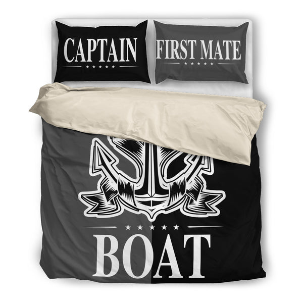 Boat Anchor Bedding Set Duvet Cover Captain & First Mate Anchor ccnc006 bt0159