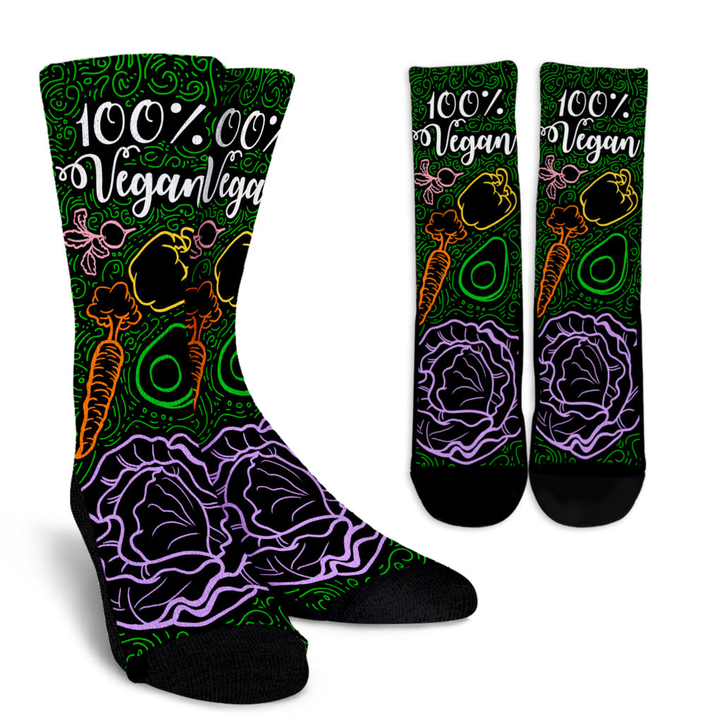 Colorful Vegan Crew Socks