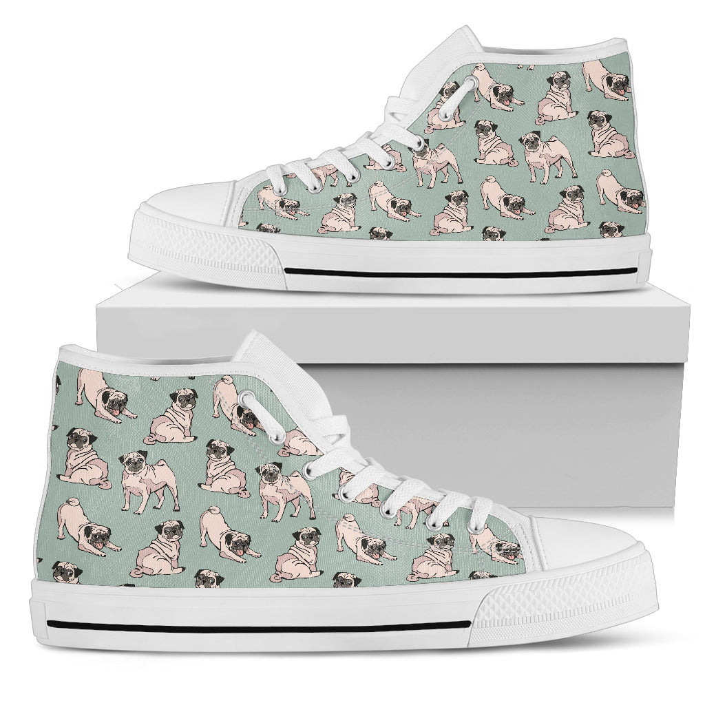 Pug High Top Canvas Canvas Shoes Women'S High Top