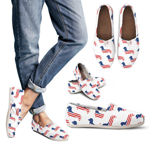 July 4Th Dachshund Women`S Casual Shoes