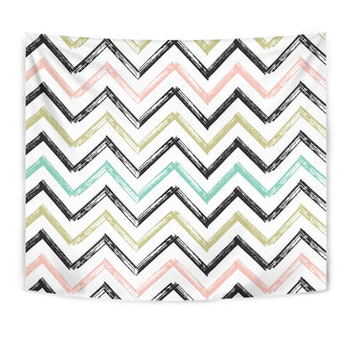 Zigzag  Chevron Paint Pattern Wall Tapestry