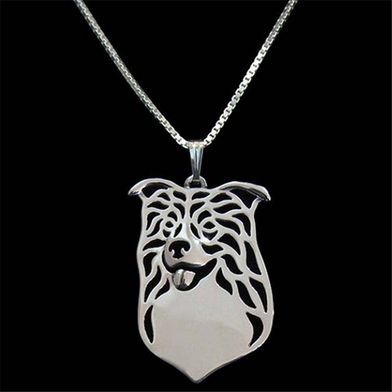 Border Collie Pendant Necklace Silver/Gold ccnc003 dg0040