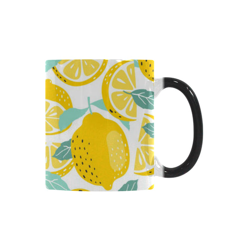 lemon design pattern Morphing Mug Heat Changing Mug