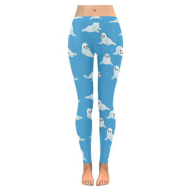 Cute sea lion seal pattern background Women's Legging Fulfilled In US
