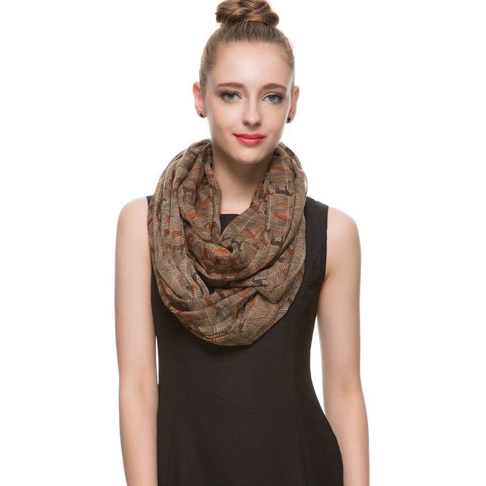 Horse Animal Infinity Scarf Snood scarves Shawls ccnc002 hp0005