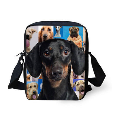 High quality Small Shoulder Bags Cute Dachshund Dog pattern ccnc003 dg0025