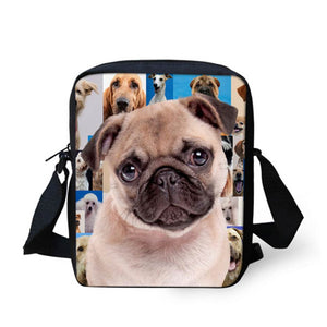 High Quality Small Shoulder Bags Cute Pug Dog Pattern Ccnc003 Dg0026