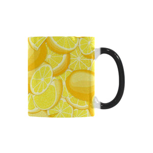 lemon pattern Morphing Mug Heat Changing Mug