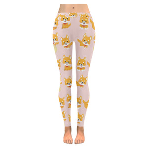 Cute shiba inu dog pattern Women's Legging Fulfilled In US