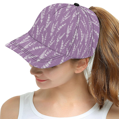 Lavender flowers purple pattern All Over Print Snapback Cap