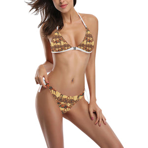 Camel polynesian tribal design pattern Sexy Bikinis Two-Piece Swimsuits