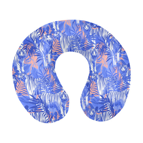 white bengal tigers pattern U-Shaped Travel Neck Pillow