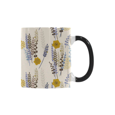 Lavender modern pattern blackground Morphing Mug Heat Changing Mug