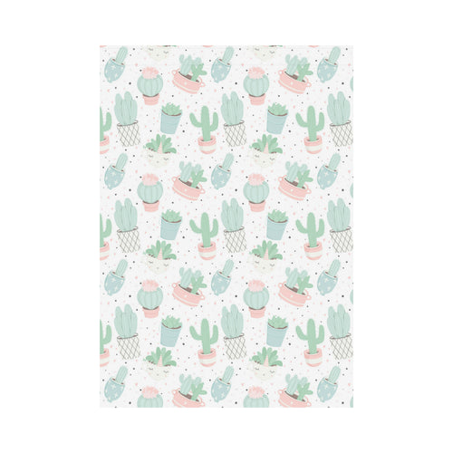 Pastel color cactus pattern House Flag Garden Flag