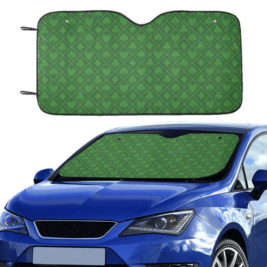 Casino Cards Suits Pattern Print Design 04 Car Sun Shade