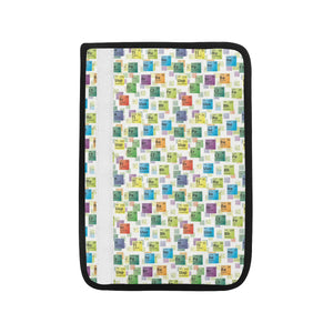 Chemistry Periodic Table Pattern Print Design 05 Car Seat Belt Cover