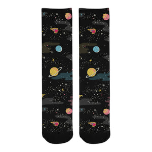 space pattern Crew Socks