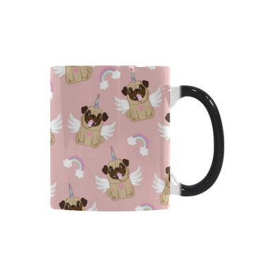 Cute unicorn pug pattern Morphing Mug Changing Mug