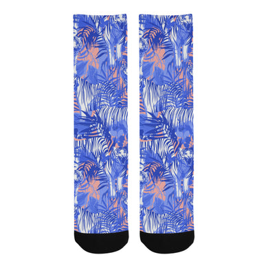 white bengal tigers pattern Crew Socks