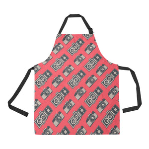 Camera Pattern Print Design 05 All Over Print Adjustable Apron