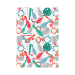 Watercolor bowling pattern House Flag Garden Flag