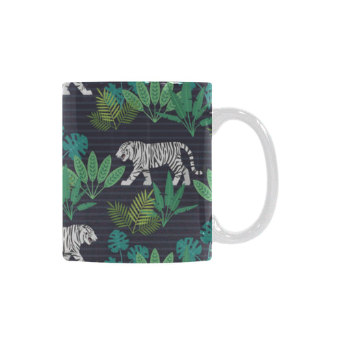white bengal tigers tropical plant Classical White Mug (Fulfilled In US)