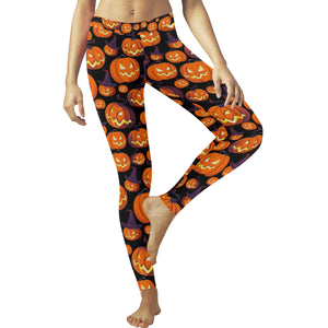 Halloween Pumpkin pattern Women's Legging Fulfilled In US