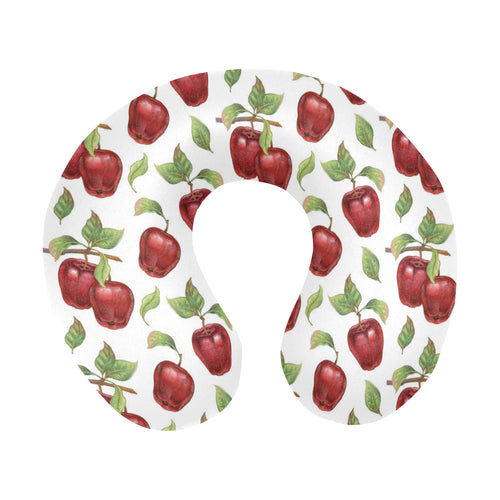 Red apples pattern U-Shaped Travel Neck Pillow