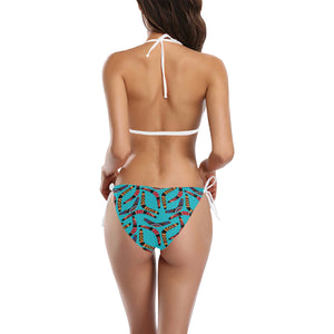 Boomerang Australian aboriginal ornament blue back Sexy Bikinis Two-Piece Swimsuits