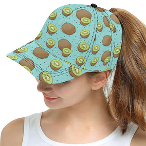 Kiwi blue background All Over Print Snapback Cap