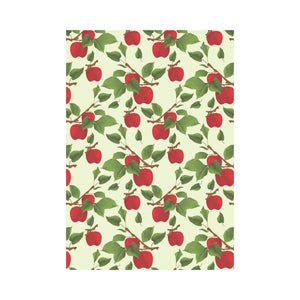 Red apples leaves pattern House Flag Garden Flag