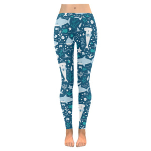 Cute shark pattern Women's Legging Fulfilled In US