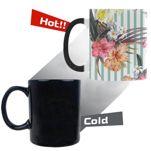 Colorful orchid flower pattern Morphing Mug Heat Changing Mug