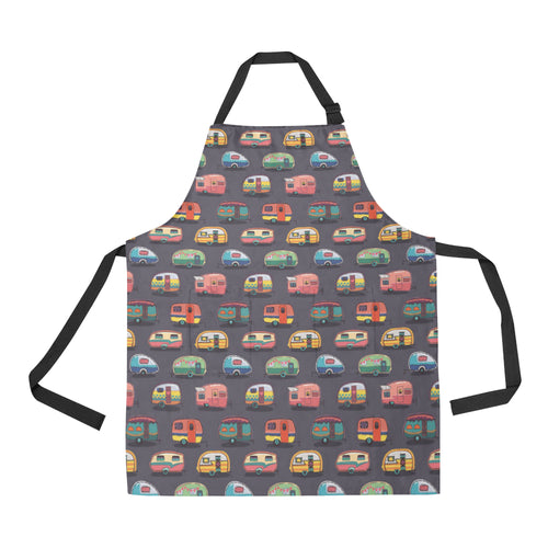 Camper Van Pattern Print Design 02 All Over Print Adjustable Apron