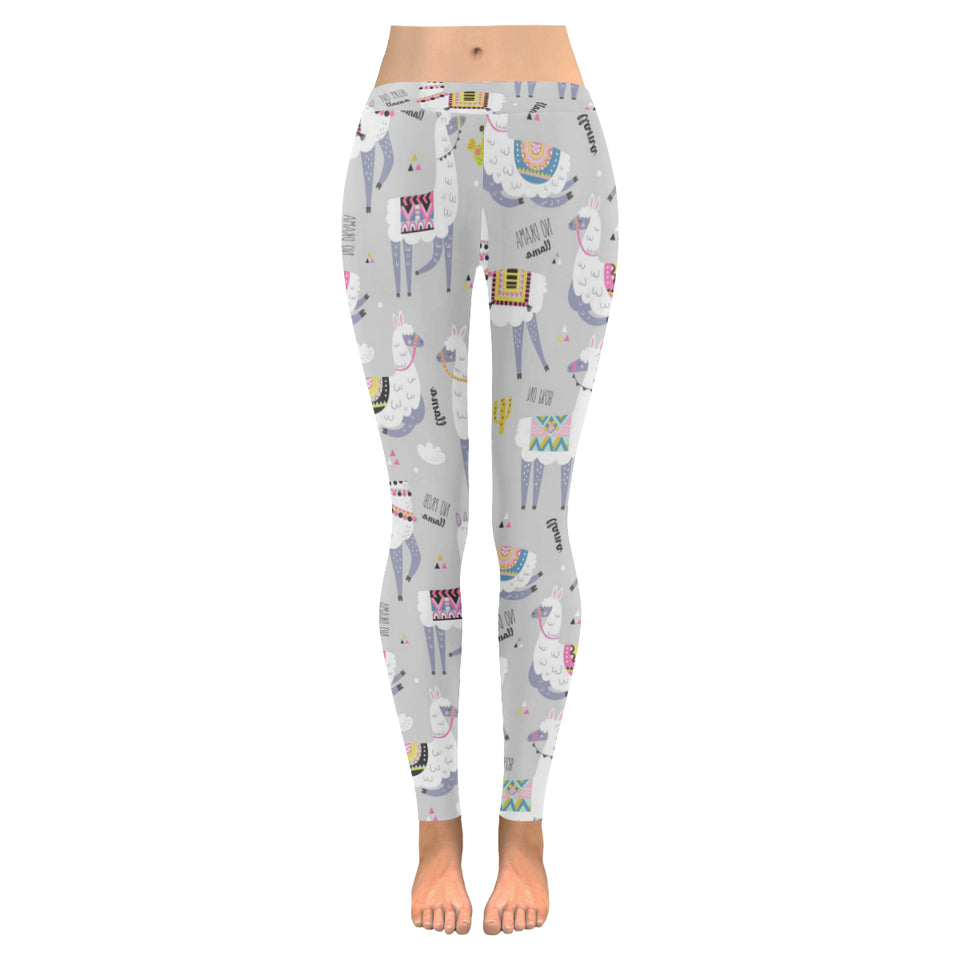 Cute Llama Alpaca pattern Women's Legging Fulfilled In US