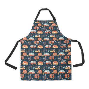 Camper Van Pattern Print Design 05 All Over Print Adjustable Apron